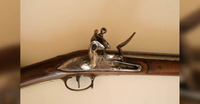 Flintlock Rifle, late XVIII