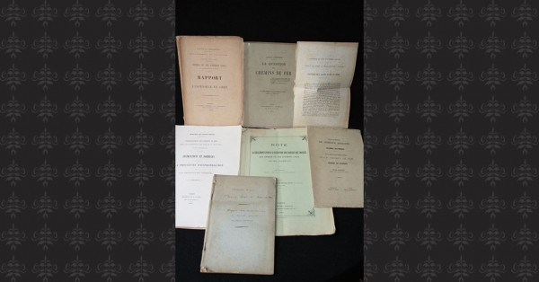 CHEMIN DE FER – DEVELOPPEMENT - 8 volumes